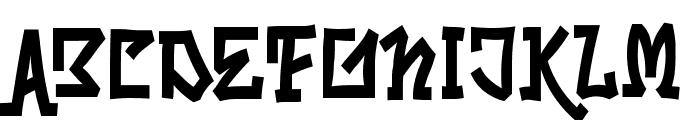 Skrybylrr Font UPPERCASE