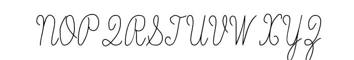 Skryptaag Tryout Font UPPERCASE