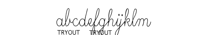 Skryptaag Tryout Font LOWERCASE