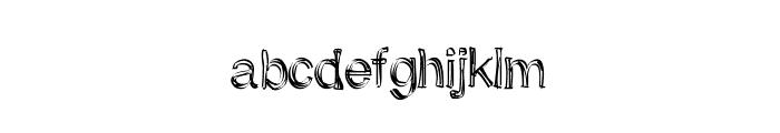 SkunkMonkeyRough Font LOWERCASE