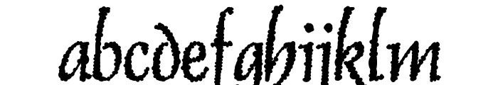 Skurri Font LOWERCASE