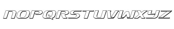 Sky Marshal 3D Italic Font UPPERCASE