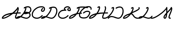Sky liner Font UPPERCASE