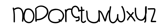 SkyblueClues Font LOWERCASE