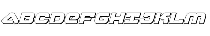 Skyhawk 3D Italic Font UPPERCASE