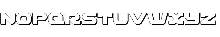Skyhawk 3D Font UPPERCASE