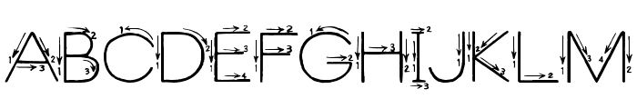 Skyland Font UPPERCASE