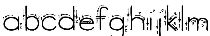 Skyland Font LOWERCASE