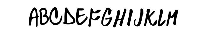 Skylarking Font UPPERCASE