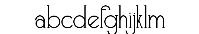 Skyliner-Regular Font LOWERCASE