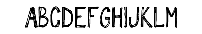 sketch me_FREE-version Font UPPERCASE