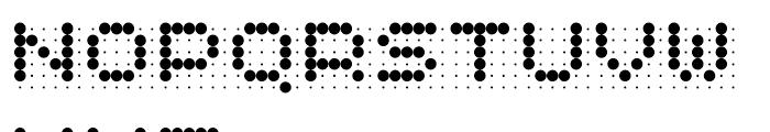 Skannerz Regular Font UPPERCASE