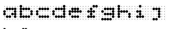 Skannerz Regular Font LOWERCASE