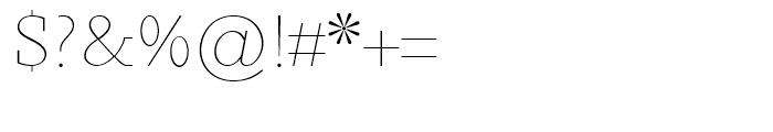 Sky Serif Light SC Font OTHER CHARS