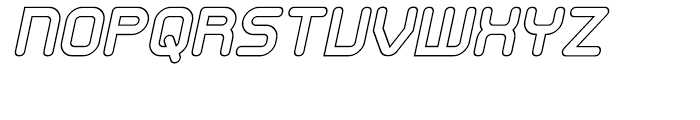 Sky Wing Outline Italic Font UPPERCASE