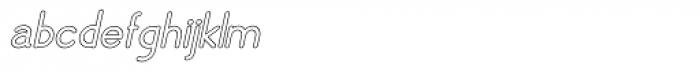 Skarpa Hollow Bold Italic 2.0 Font LOWERCASE