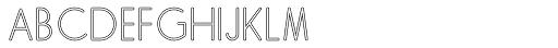 Skarpa Hollow Regular 2.0 Font UPPERCASE