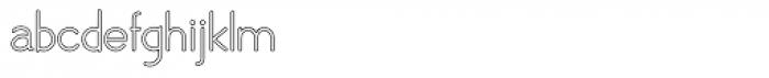 Skarpa Hollow Regular 2.0 Font LOWERCASE