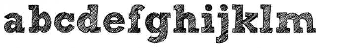 Sketch Block Bold Font LOWERCASE