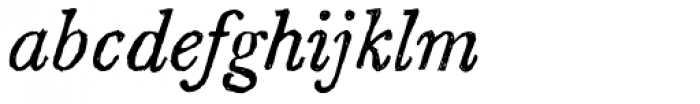 Sketch Caslon Italic Font LOWERCASE