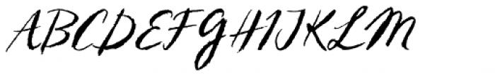 Sketch Script Font UPPERCASE
