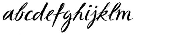 Sketch Script Font LOWERCASE