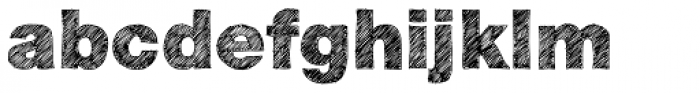 Sketchetik Black Font LOWERCASE