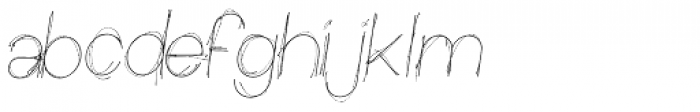 Sketchica Font LOWERCASE