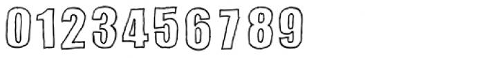 Sketchimpact Outline Bold Font OTHER CHARS