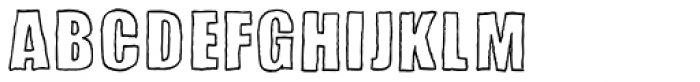 Sketchimpact Outline Bold Font UPPERCASE
