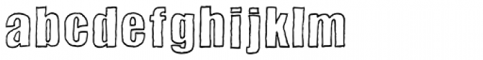 Sketchimpact Outline Bold Font LOWERCASE