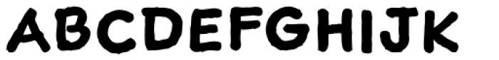 Sketchnote Text Bold Font UPPERCASE