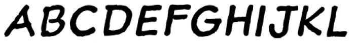 Sketchnote Text Italic Font UPPERCASE