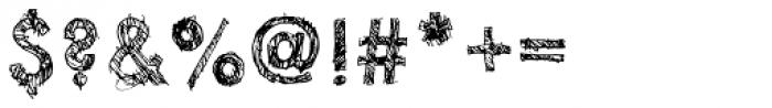 Sketchura Font OTHER CHARS