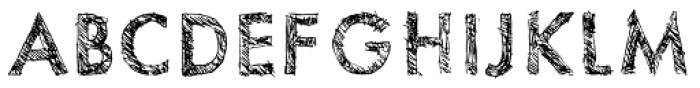 Sketchura Font UPPERCASE