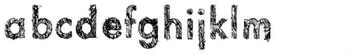Sketchura Font LOWERCASE