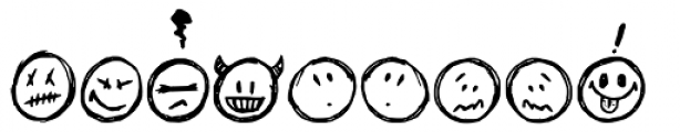 Sketchy Smiley Font UPPERCASE