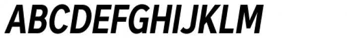 Skie Condensed Bold Italic Font UPPERCASE