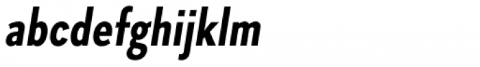 Skie Condensed Bold Italic Font LOWERCASE