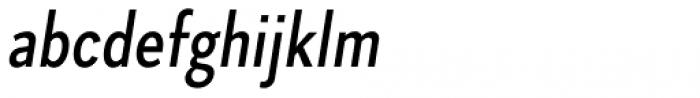 Skie Condensed Medium Italic Font LOWERCASE