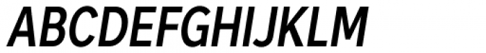 Skie Condensed Semi Bold Italic Font UPPERCASE