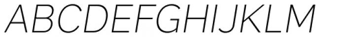 Skie Extra Light Italic Font UPPERCASE