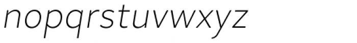 Skie Extra Light Italic Font LOWERCASE