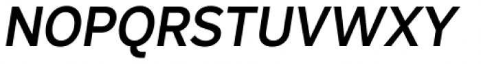 Skie Semi Bold Italic Font UPPERCASE