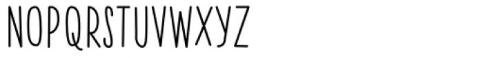 Skinny Walrus Font UPPERCASE