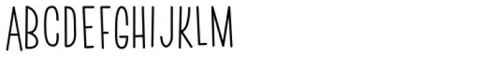 Skinny Walrus Font LOWERCASE