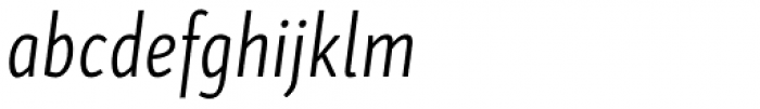 Skolar Sans Latn Compressed Lt It Font LOWERCASE