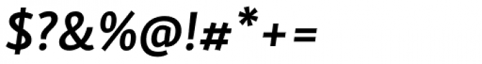 Skolar Sans Latn Semibold Italic Font OTHER CHARS