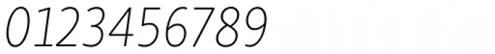Skolar Sans Latn Thin Italic Font OTHER CHARS