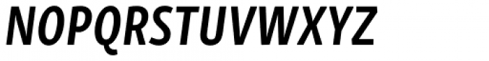 Skolar Sans PE Compressed Bold Italic Font UPPERCASE